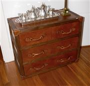 Sale 8098A - Lot 30 - Chest of four drawers in vintage leather