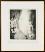 Sale 8330A - Lot 17 - Norman Lindsay (1879 - 1969) - Eternity's Avatar 35 x 30.5cm