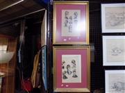 Sale 8417T - Lot 2096 - 2 Millinery Coloured Framed Engravings