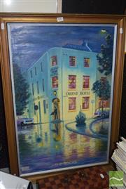 Sale 8509 - Lot 2087 - Ted Waight Orient Hotel, The Rocks 1980, oil on board, signed and dated lower left