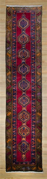 Sale 8559C - Lot 26 - Vintage Persian Lilian Runner 385cm x 85cm