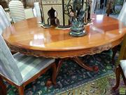 Sale 8566 - Lot 1195 - Round French Style Dining Table and Six Chairs