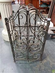 Sale 8566 - Lot 1312 - Metal Cage Form Wine Rack (80)