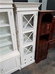 Sale 8740 - Lot 1009 - White Timber Display Cabinet