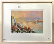 Sale 8797 - Lot 2070 - Artist Unknown - Paris Scene pastel on paper, 40 x 50cm (frame),signed and dated lower right