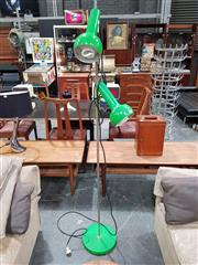 Sale 8908 - Lot 1083 - Oslo Twin Shade Floor Lamp in Frog Green