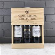 Sale 9062 - Lot 844 - 1x The Gold Medal Collection Red Bordeaux Set - 3x 750ml bottles in timber box