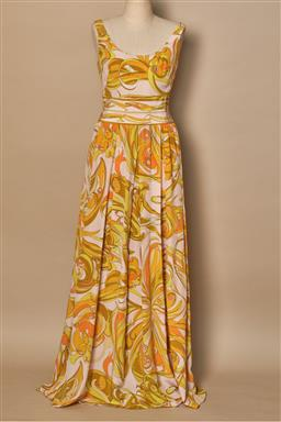Sale 9093F - Lot 21 - A Rare Vintage Emilio Pucci dress Immaculate condition abstract print long floaty dress, size small