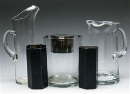 Sale 9164 - Lot 132 - A collection of glassware inc Orrefors jugs, ice bucket and Stuart crystal salt and pepper shakers