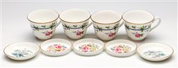 Sale 9254 - Lot 2135 - A collection of Royal Worcester china ware incl. four teacups (H:7cm) and five pin dishes (Dia:9cm to 10cm)