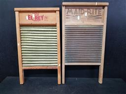 Sale 9254 - Lot 2318 - Pair of timber washboards