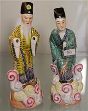 Sale 7969 - Lot 86 - Chinese Polychrome Pair of Smugglers Figures