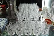 Sale 8100 - Lot 48 - Waterford Cut Crystal Part Drinks Suite
