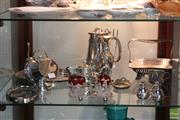 Sale 8365 - Lot 83 - Silver Plated Vase with other Plated Wares, incl Condiments -