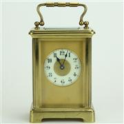 Sale 8413 - Lot 77 - French Brass Carriage Clock