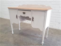 Sale 9102 - Lot 1210 - Painted timber sideboard with two doors and single drawer (h89 x w107 x d41cm)