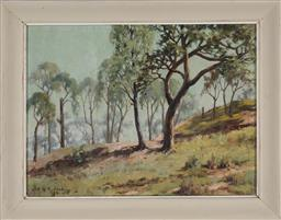 Sale 9159 - Lot 2018 - T H RONALD - Afternoon Sunlight, near Balmoral 1950 frame: 36 x 46 cm