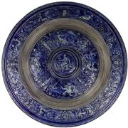 Sale 8065 - Lot 64 - Merkelbach & Wick Renaissance Revival Salt Glaze Charger