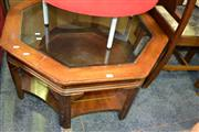Sale 8115 - Lot 1125 - Octagonal Table w Glass Top
