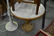 Sale 8129 - Lot 1041 - marble Top gilt Base Lamp Table