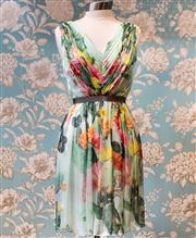 Sale 8474A - Lot 15 - A lovely Matthew Williamso floral 50s style 100% silk dress, in excellent condition, size 10