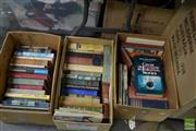 Sale 8478 - Lot 2550 - 3 Boxes of Various books incl. Morton, H.V. In Search of England; Taylor, R. & V Great Shark Stories; The Boy who Sailed Around...