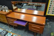 Sale 8511 - Lot 1095 - G-Plan Teak Dressing Table with Mirrored Back
