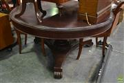 Sale 8566 - Lot 1643 - Antique Style Mahogany Circular Tilt Top Table (160)