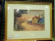 Sale 8613 - Lot 2051 - Artist Unknown - A Country Cottage, watercolour, 30 x 36.5cm, signed lower right