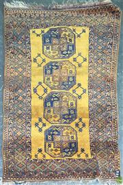 Sale 8637 - Lot 1038 - Blue and Tan Hand Woven Persian Carpet