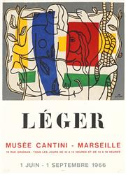 Sale 8794A - Lot 5092 - After Fernand Léger (1881 - 1955) - Musee Cantini: Leger, 1966 72 x 52cm