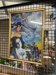 Sale 8924 - Lot 2092 - Collage In Frame