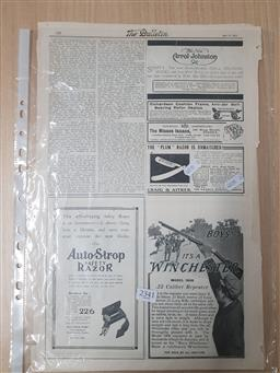 Sale 9152 - Lot 2341 - Collwction of Winchester Adverts. from The Bulletin