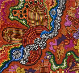 Sale 9239A - Lot 5002 - DAMIEN MARKS JANGALA AND YILPI MARKS ATIRA - My Country 89 x 95 cm (stretched and ready to hang)