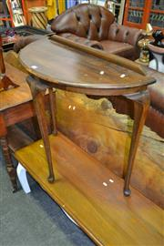 Sale 8115 - Lot 1030 - Demi-Lune Hall Table & Specimen Wine Table
