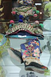 Sale 8226 - Lot 62 - Vintage Chinese Shoes with Hat -