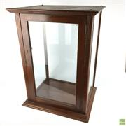 Sale 8589R - Lot 42 - Timber and Glass Display Case (H: 66cm)