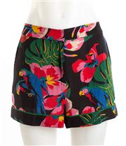 Sale 8640F - Lot 10 - A pair of Valentino printed silk shorts, size M.
