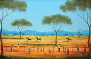 Sale 8665A - Lot 5015 - Kym Hart (1965 - ) - Three Horse Race 44 x 29.5cm