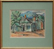 Sale 8716 - Lot 2061 - Desiderius Orban (1884 - 1986) - Untitled (Mountain Village) 24.5 x 31.5cm