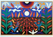 Sale 8859A - Lot 5018 - John Coburn (1925 - 2006) - Tree of Life 55.5 x 75cm