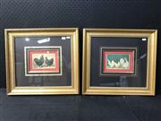 Sale 8958 - Lot 2089 - Pair of Antique chromolithographs of Chickens and Roosters, frames: 43 x 48cm, each