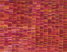 Sale 9148A - Lot 5035 - JEANNIE MILLS PWERLE (1965 - ) Bush Yam acrylic on canvas 155 x 200 cm (stretched and ready to hang) signed verso; certificate of au...
