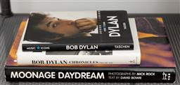 Sale 9239H - Lot 10 - A group of music reference books including Moonage Daydream, Bowie and Bob Dylan.