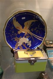 Sale 8269 - Lot 86 - Rosenthal Avian Themed Charger with a Ceramic Continental Lunch Box