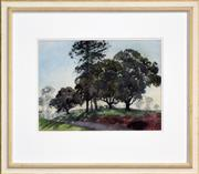 Sale 8309 - Lot 576 - William Bustard (1894 - 1973) - Tree Lined Country Road 30.5 x 40.5cm