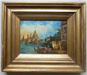 Sale 8362A - Lot 57 - Early Venetian School - Grand Canal, Venice 14 x 20 cm