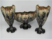 Sale 8451B - Lot 17 - Early C20th Vase Suite, Thulin Belgium