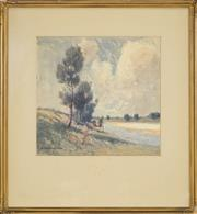 Sale 8459 - Lot 574 - William Lister Lister (1859 - 1943) - The Hawkesbury River, Port Macquarie 40 x 42cm