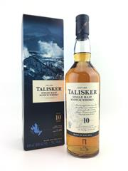 Sale 8553 - Lot 2009 - 1x Talisker 10YO Single Malt Scotch Whisky - 45.8% ABV, 700ml in box